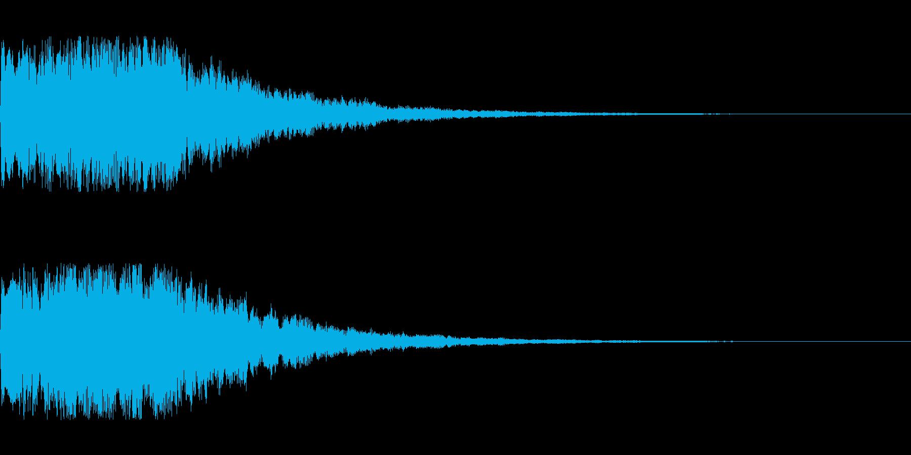 明るいシンセサイザー 決定音1の再生済みの波形