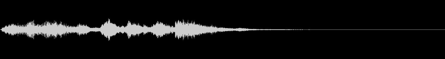 リコーダージングル、上るメロディの未再生の波形