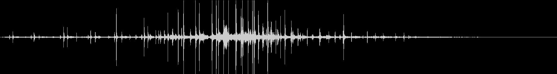 パカラパカラ(馬の走り去る音)の未再生の波形
