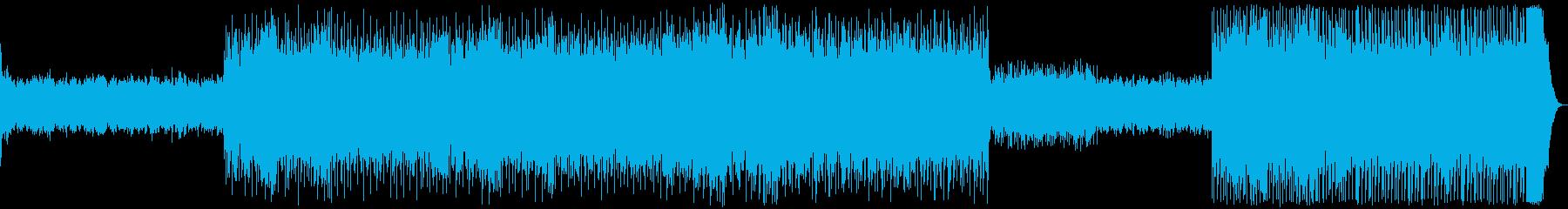 無機質な時が流れる妖艶なテクノの再生済みの波形