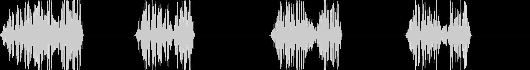 DJプレイ スクラッチ・ノイズ 259の未再生の波形