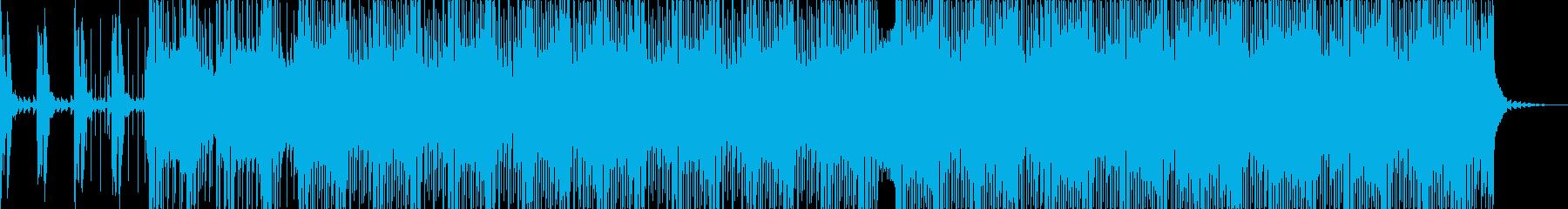 シンプルなディスコミュージックの再生済みの波形