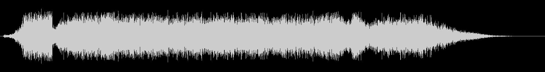 シューツ(空気が抜けるようなエアー音)の未再生の波形