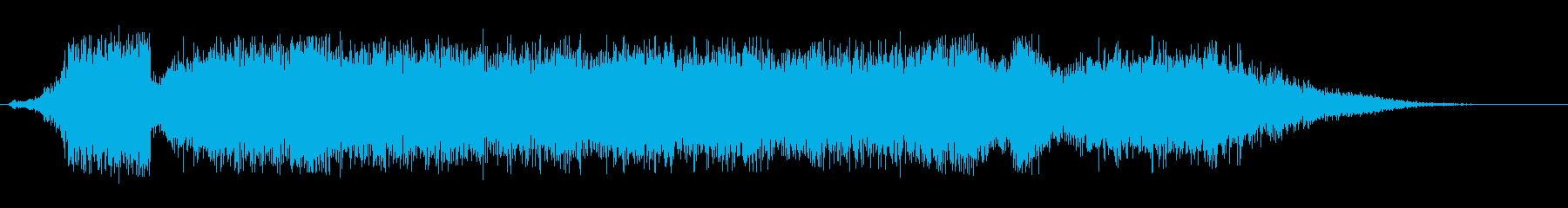 シューツ(空気が抜けるようなエアー音)の再生済みの波形