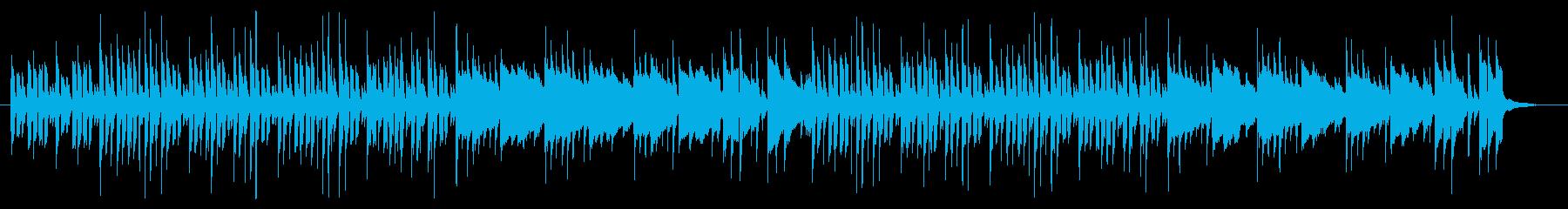 木琴がメインの明るい曲の再生済みの波形