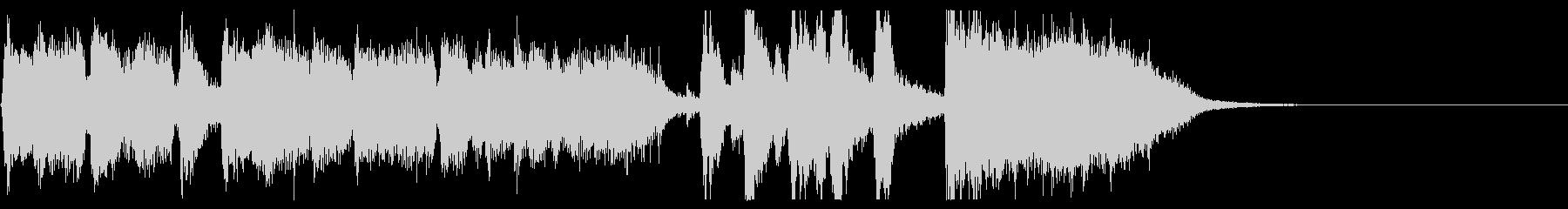 ジングル15秒・生演奏ジャズビッグバンドの未再生の波形