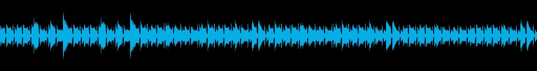 アコースティックギターの明るい曲の再生済みの波形