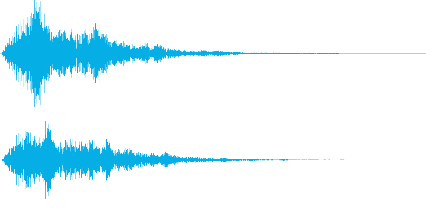 ハリウッド系サウンドロゴ ボタン押し系の再生済みの波形