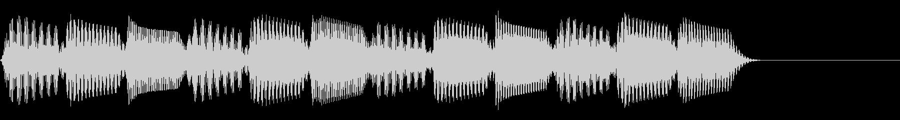 レトロでかっこいいテクノな効果音/シンセの未再生の波形