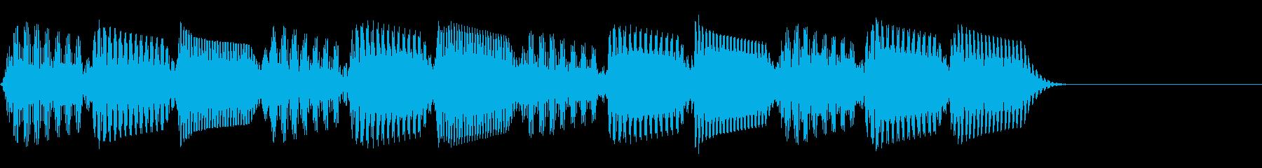 レトロでかっこいいテクノな効果音/シンセの再生済みの波形