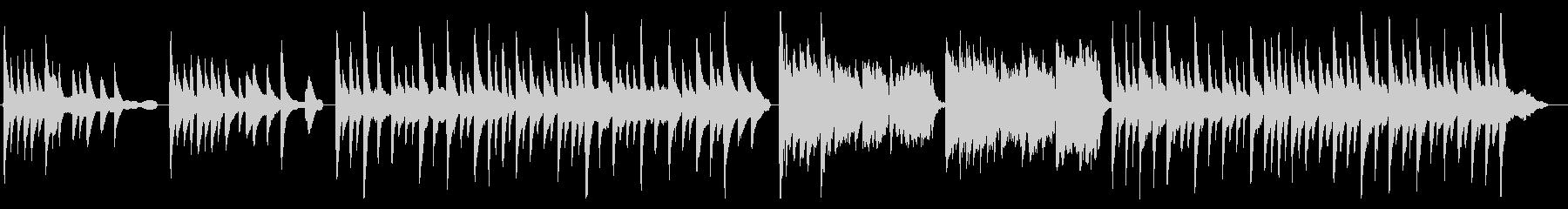 シンプルピアノ曲ホッと一息シトシト雨降りの未再生の波形