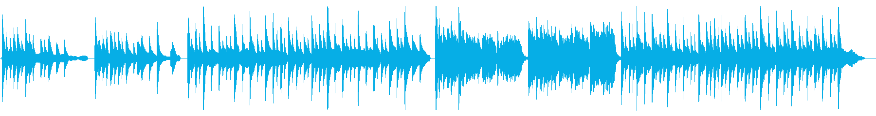 シンプルピアノ曲ホッと一息シトシト雨降りの再生済みの波形