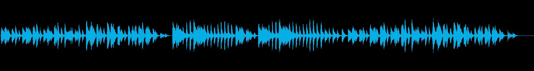 ブルグミュラーの「優美」の再生済みの波形