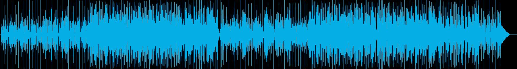 落ち付いたメロディーの安定感あるポップスの再生済みの波形