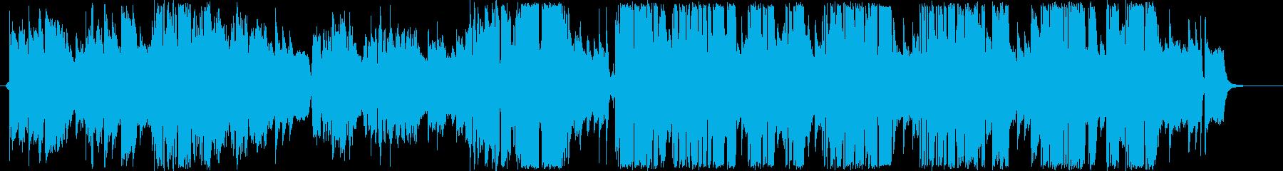 切迫した雰囲気のある弾き語りの歌モノの再生済みの波形