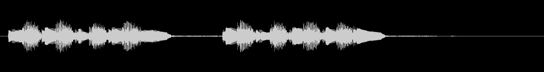 KANT 電子音アイキャッチ207313の未再生の波形