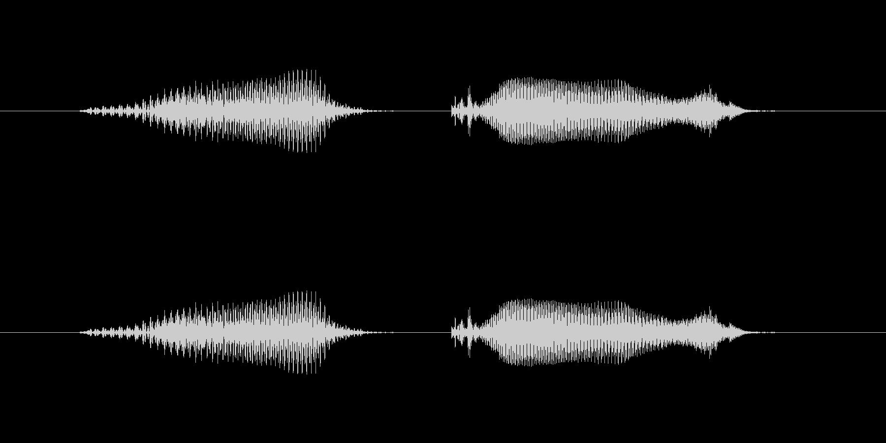 6(ろく)-明るいトーンお兄さん風の未再生の波形