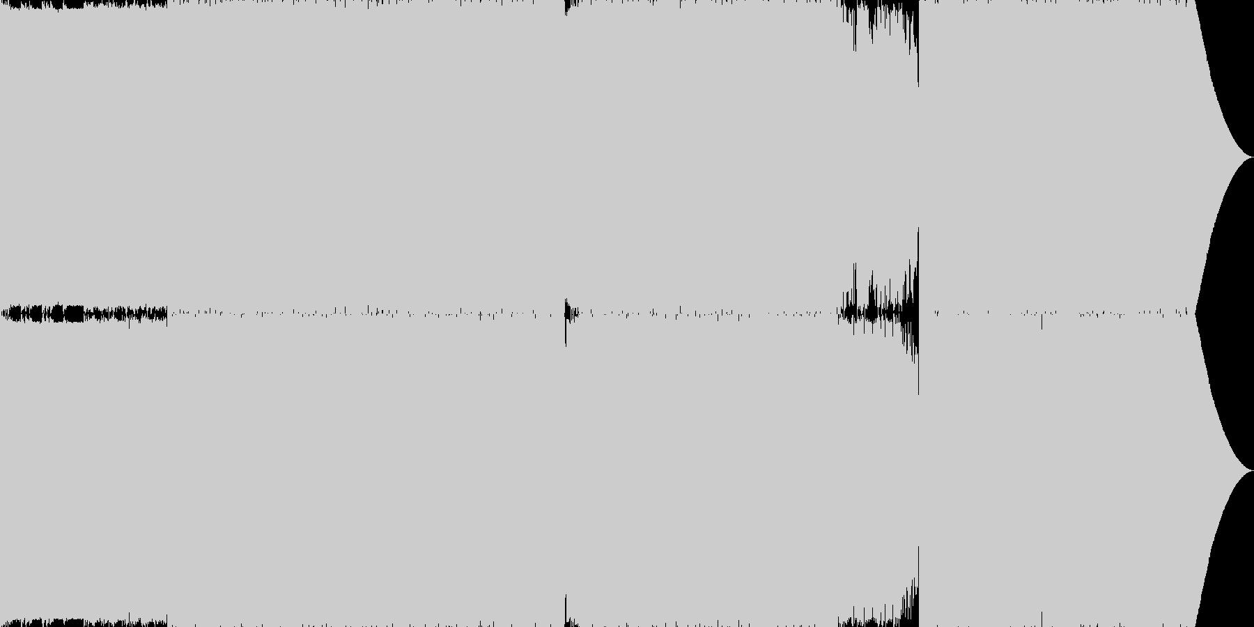 まったりした雰囲気のエレクトロの未再生の波形