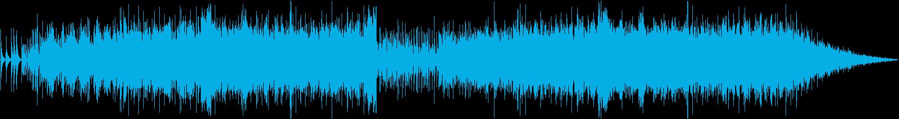 Pianoとシンセサイザーのエレクトロの再生済みの波形
