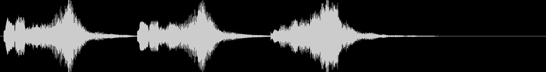 ファンタジー系の短いジングルの未再生の波形