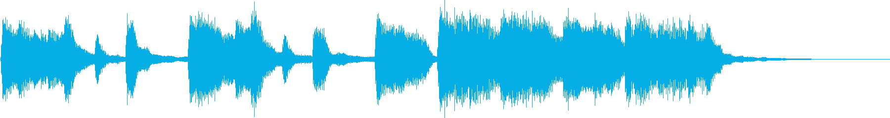クラシック調の子供向けジングルの再生済みの波形