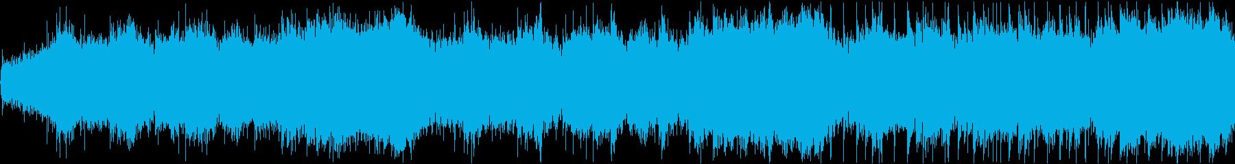 不気味な雰囲気を演出する効果音の再生済みの波形
