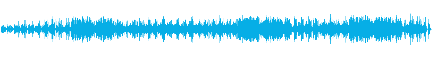 キラキラしたメルヘンチックな楽曲の再生済みの波形