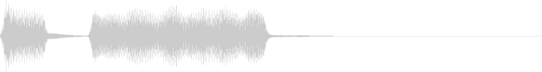 ポッポー。蒸気機関車の汽笛(低)の未再生の波形