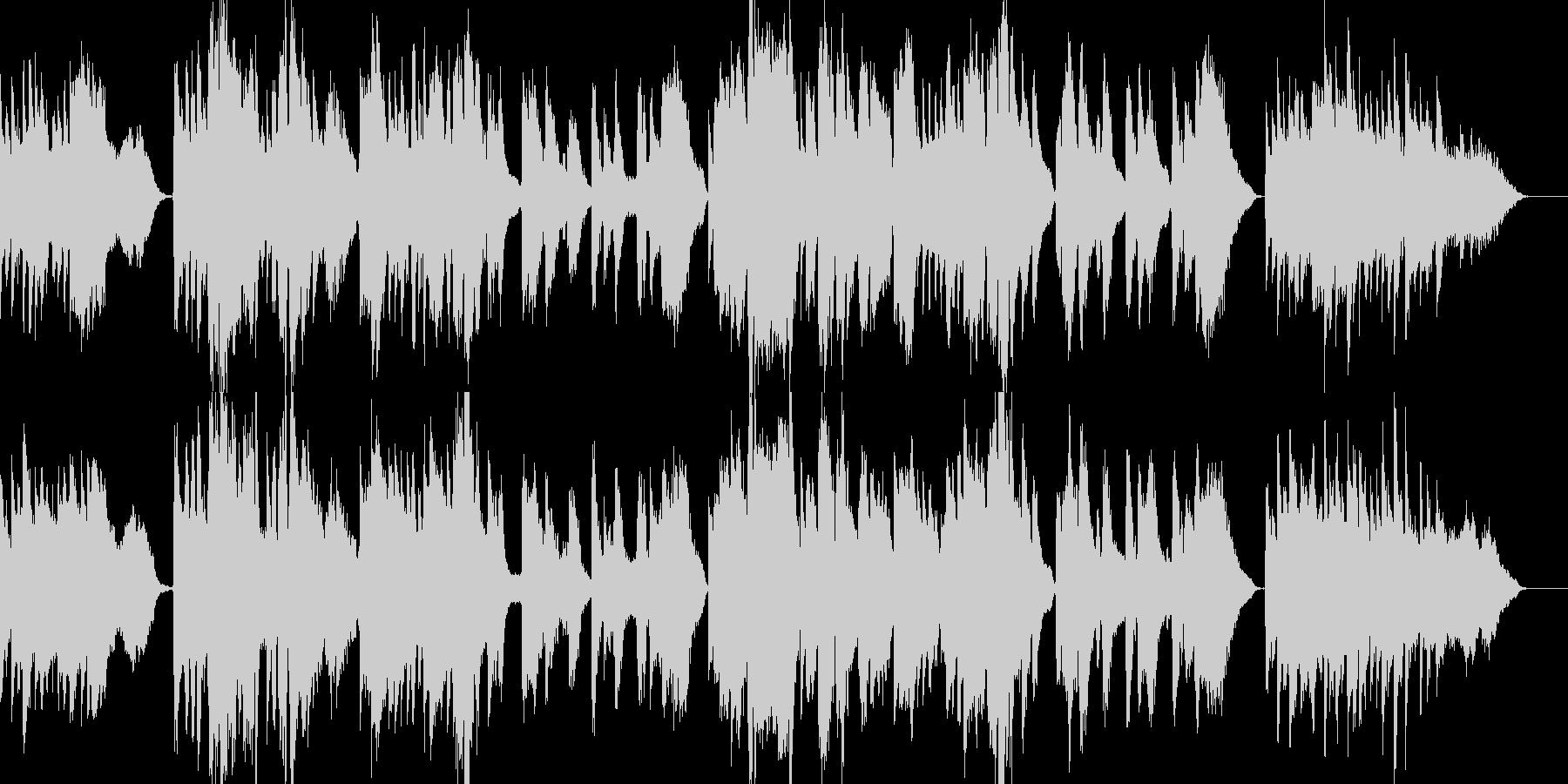 「熊本・天草地方の子守唄」ピアノ弾き語りの未再生の波形
