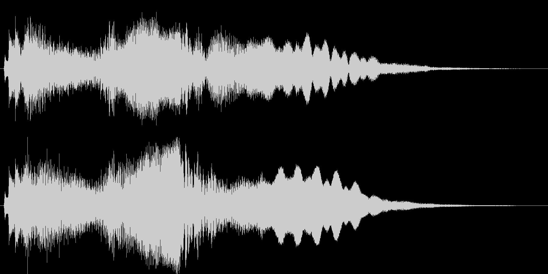 短めのシーンを演出する音です。の未再生の波形