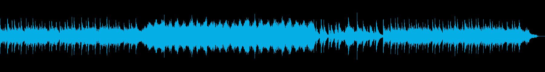涼しさをイメージさせるBGMの再生済みの波形