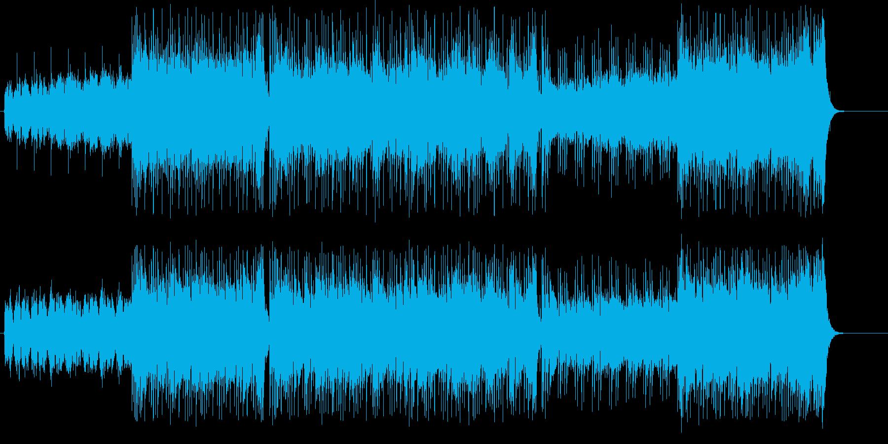 アーバンカジュアルな「スリル」イメージの再生済みの波形