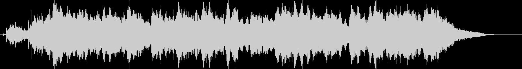 チャーチベルの印象的なクリスマスジングルの未再生の波形