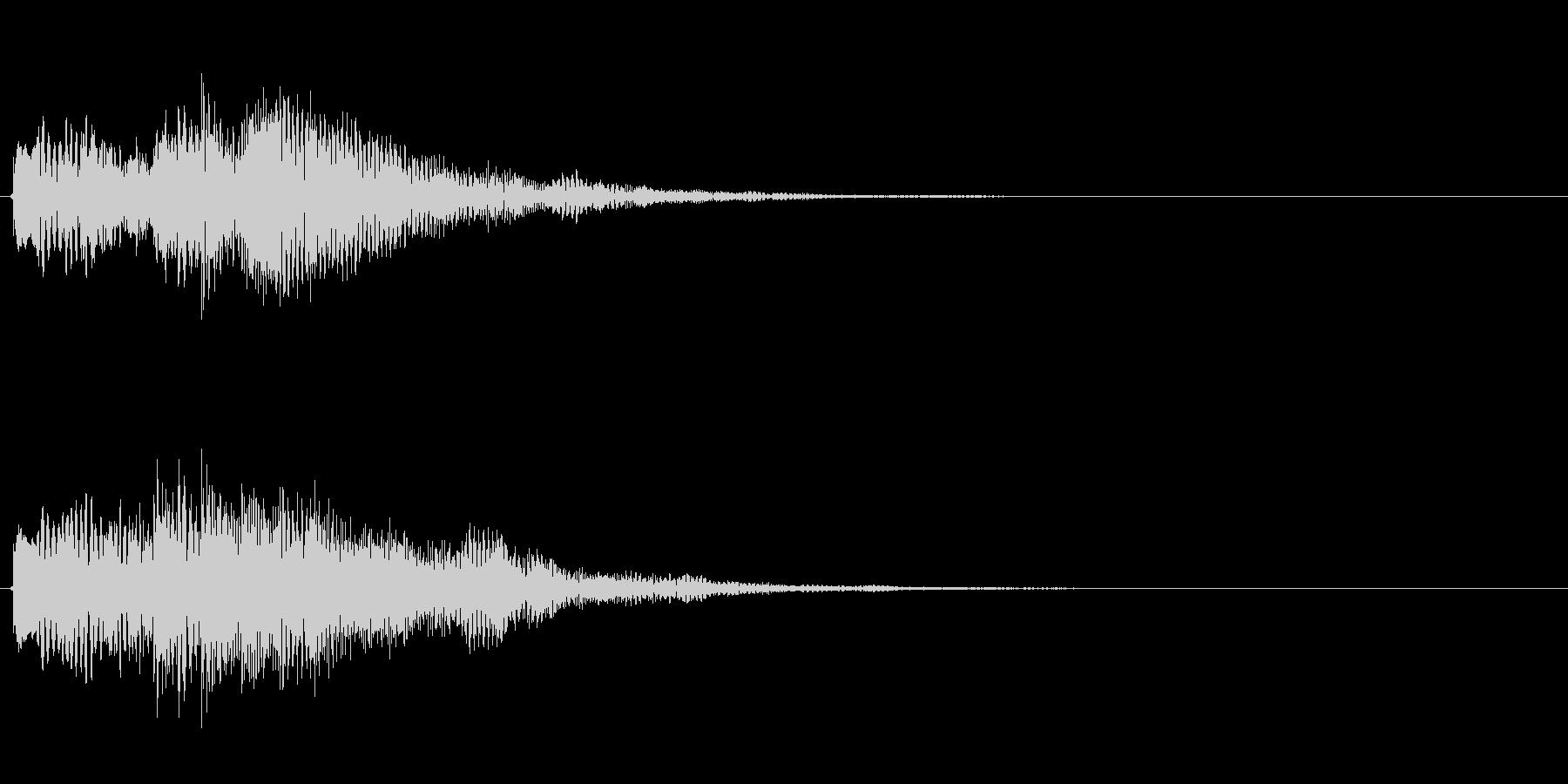 キラキラしたベルの上昇音5の未再生の波形