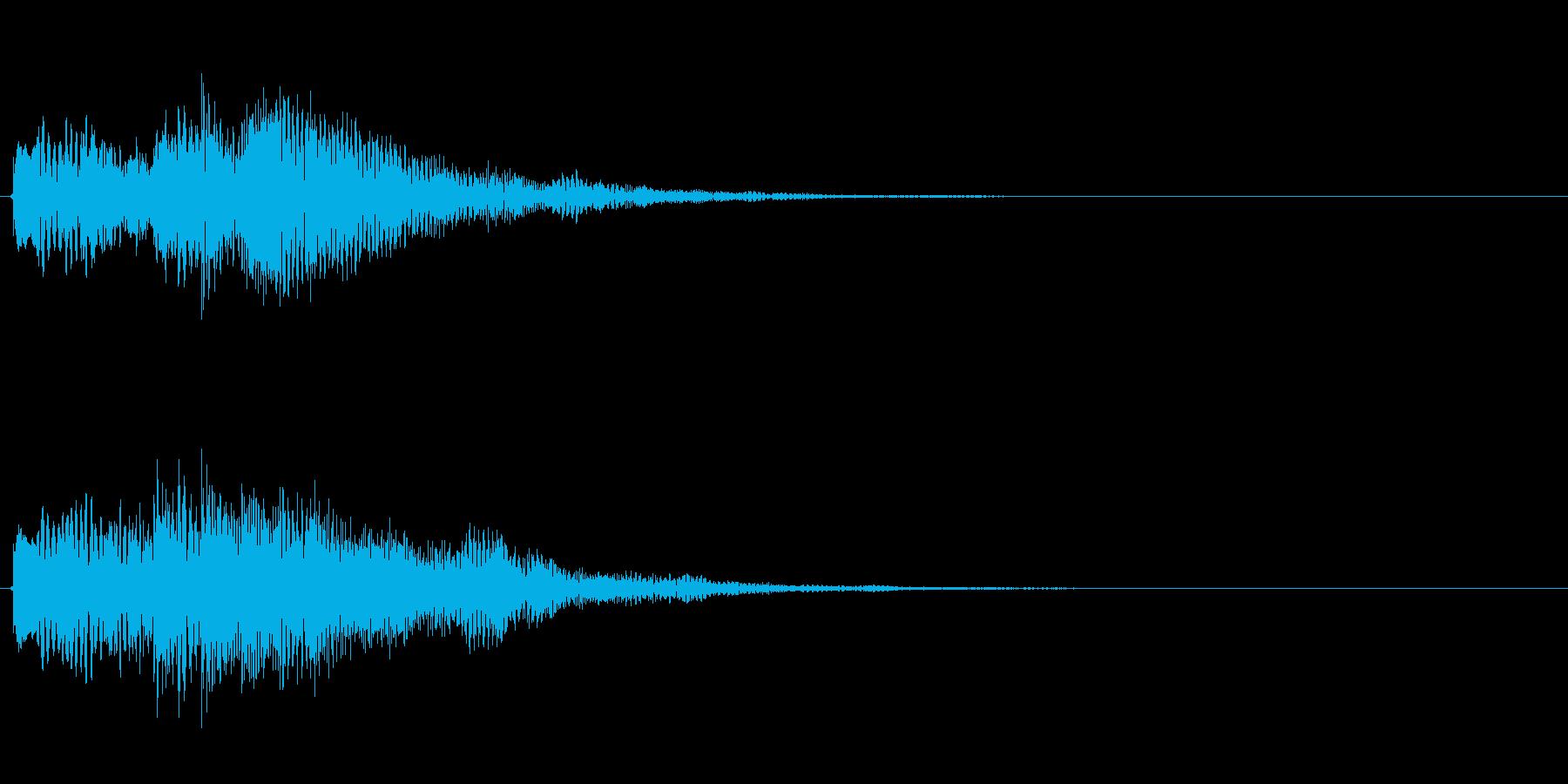 キラキラしたベルの上昇音5の再生済みの波形