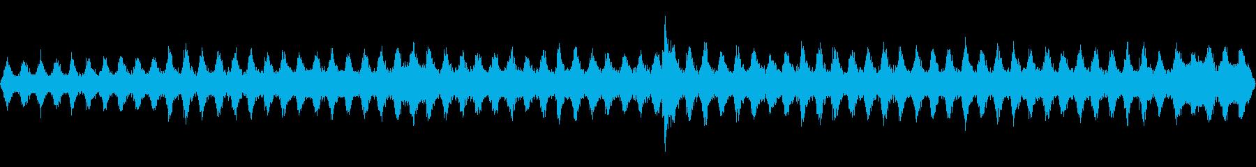 バックグラウンドで蒸気ホースヒス、...の再生済みの波形