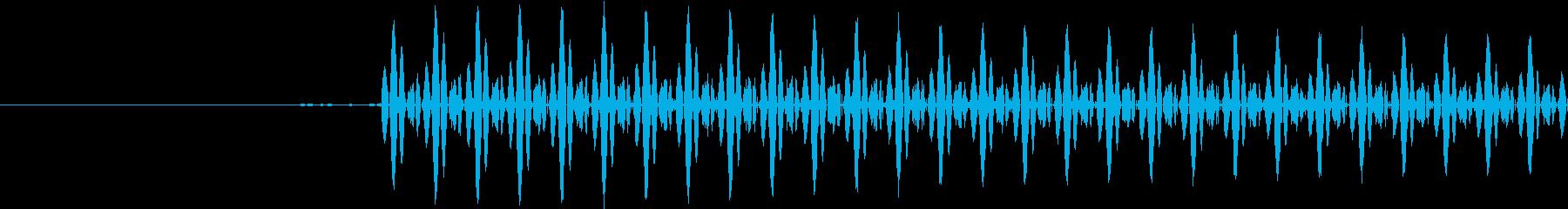 テレメトリまたは電子音の再生済みの波形