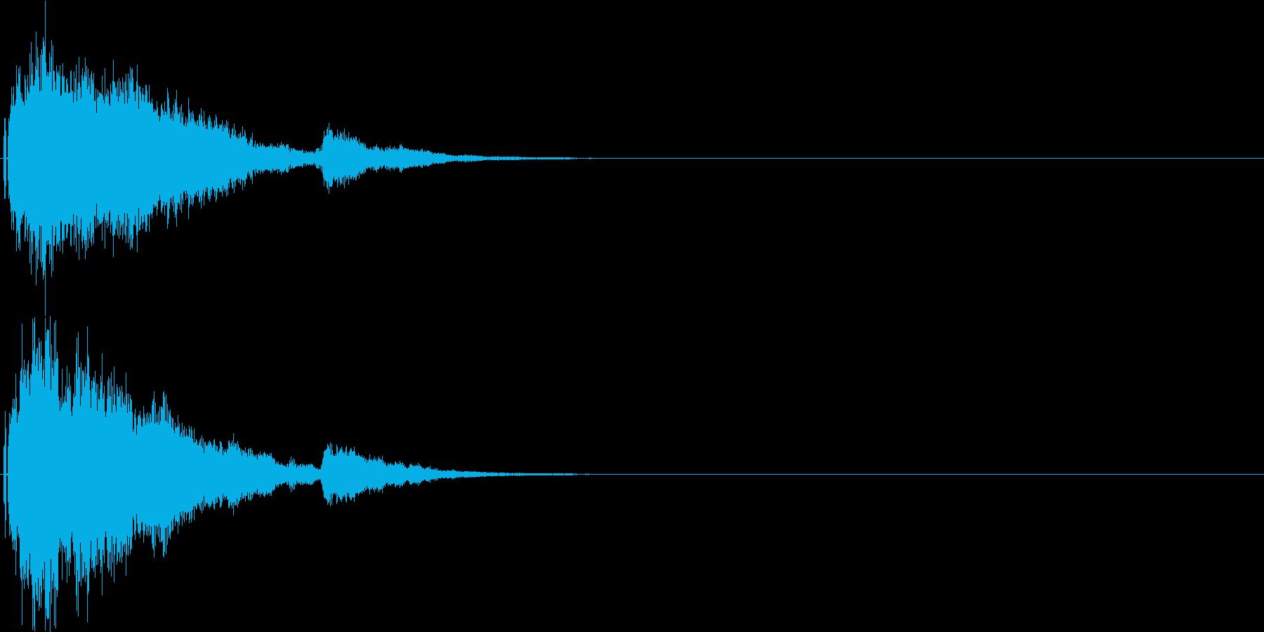 シャキーン!特殊魔法や闇に最適な効果音の再生済みの波形