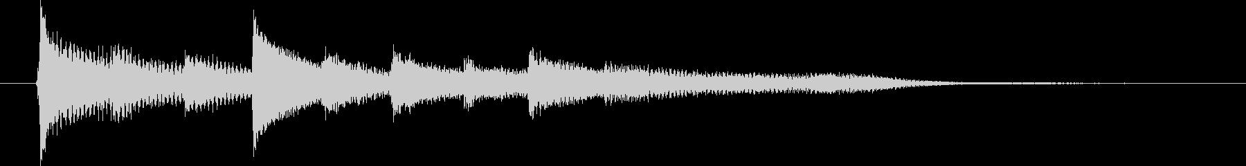 ピアノ転回音5の未再生の波形