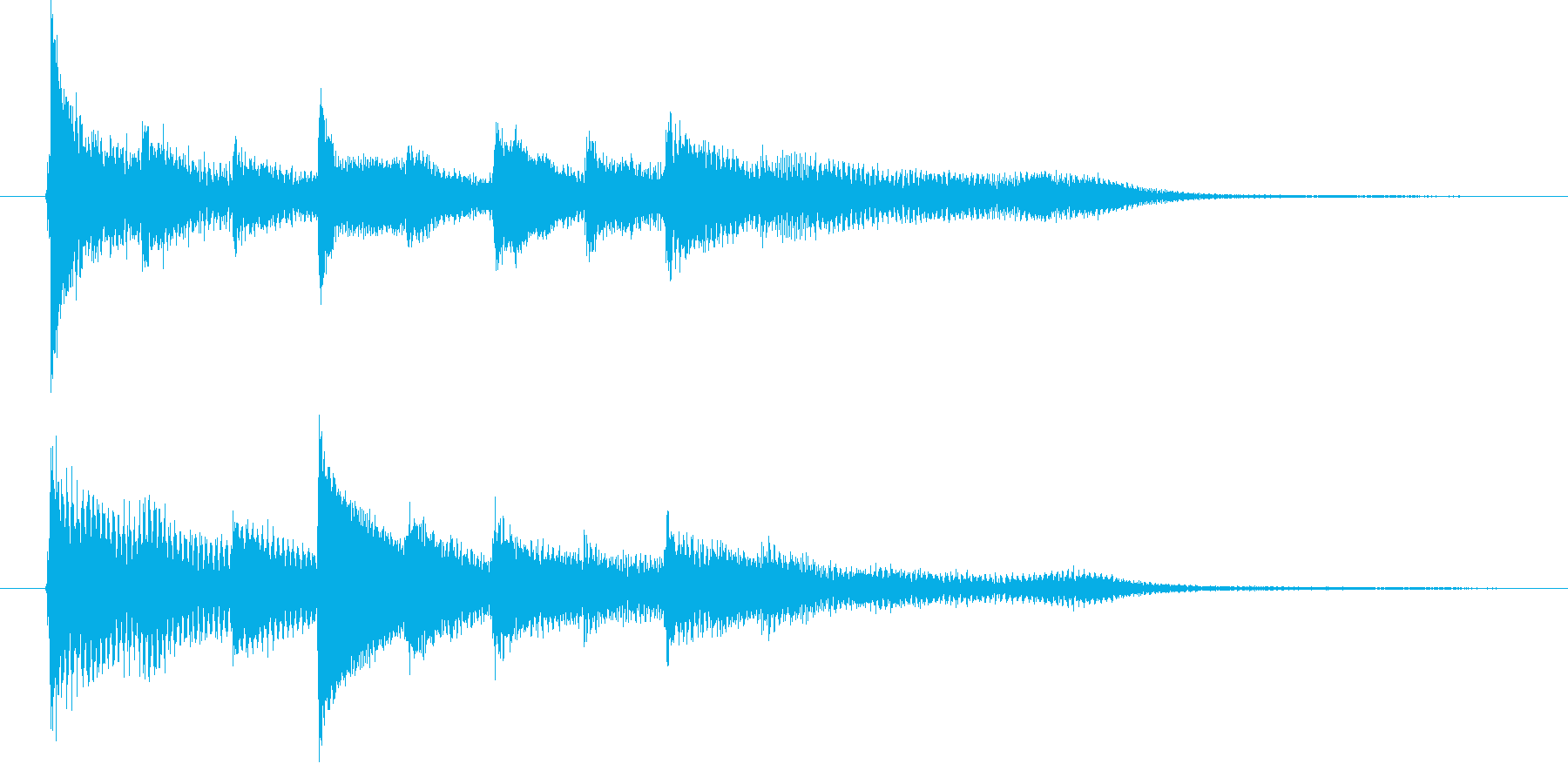 ピアノ転回音5の再生済みの波形