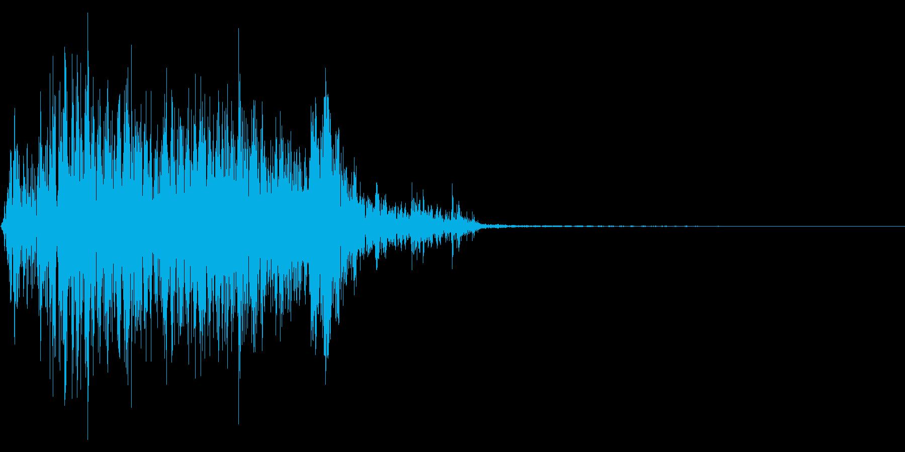 ジッパー、ファスナーを閉じる音1-2の再生済みの波形