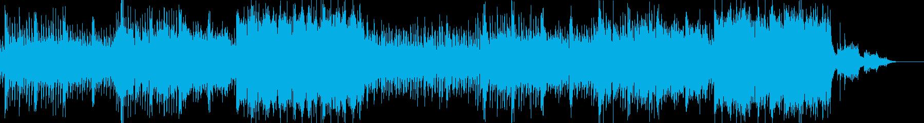 3拍子のせつない感動的な女声多重コーラスの再生済みの波形