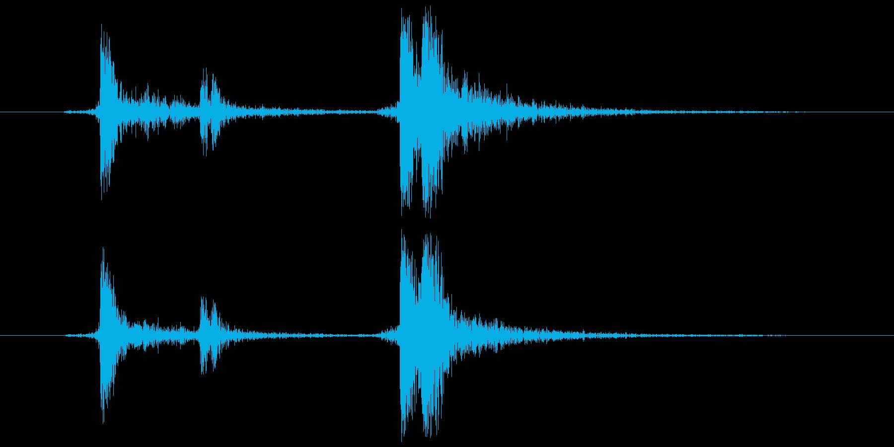 メディアケース 開閉音(カチャッ)の再生済みの波形
