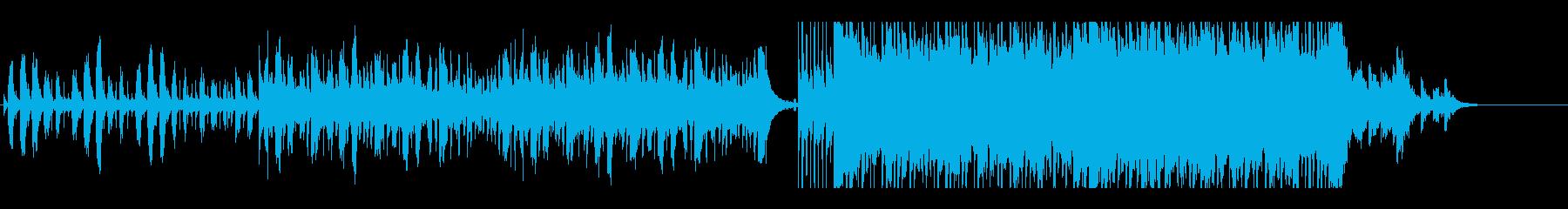 後半ロックなエレクトリックの再生済みの波形