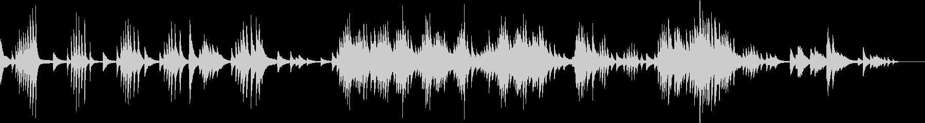 切なくて幻想的なピアノBGM(生演奏)の未再生の波形