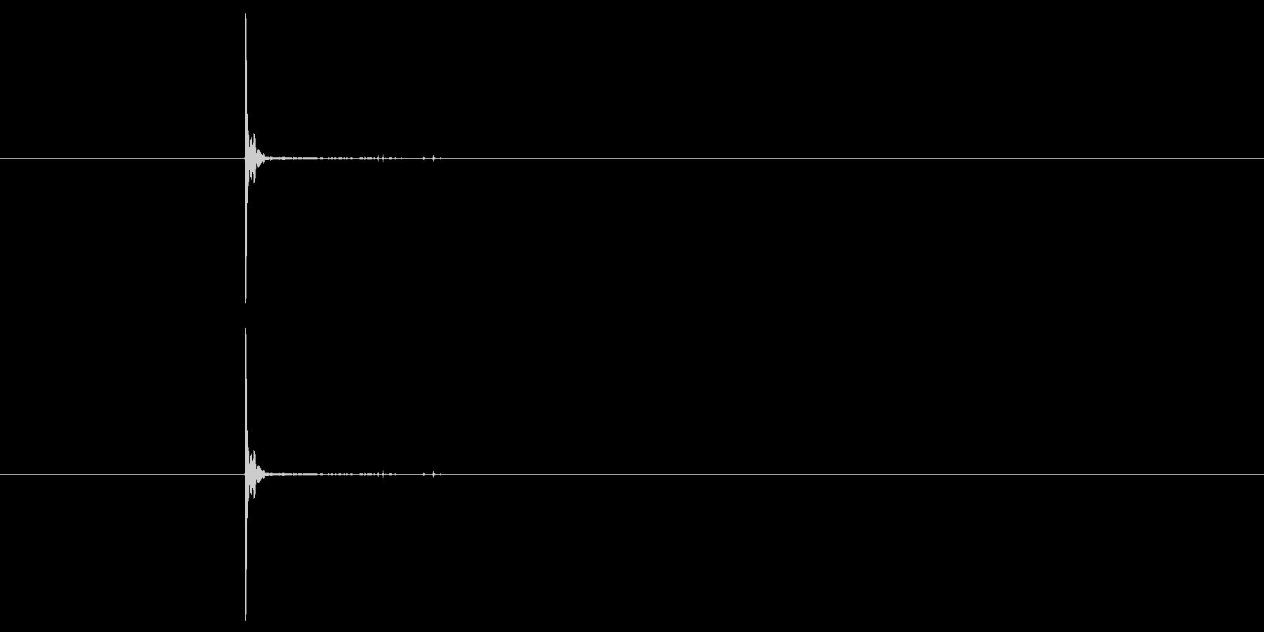 スレッジハンマーでブリックヒットの未再生の波形