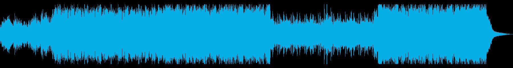 近未来的でクールなベースミュージックの再生済みの波形