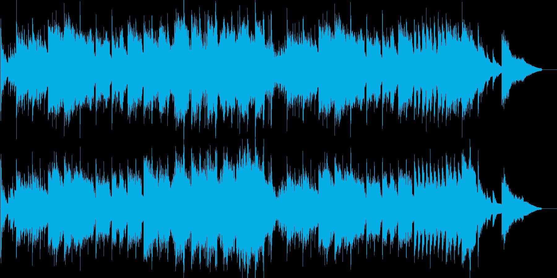 和風オーケストラ時代劇風京都映像曲の再生済みの波形