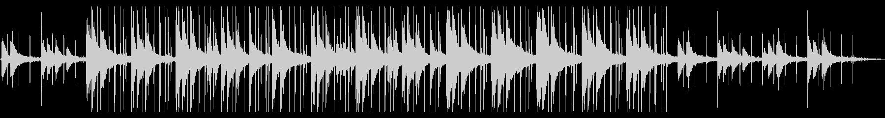 ゆらゆらするピアノLOFI HIPHOPの未再生の波形