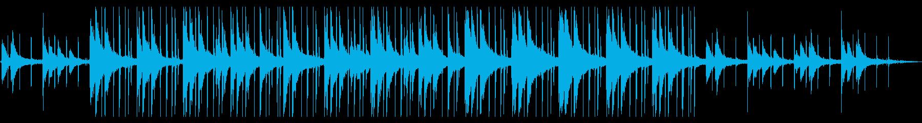ゆらゆらするピアノLOFI HIPHOPの再生済みの波形